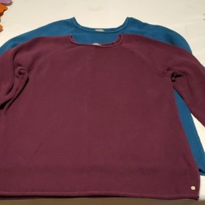 2 Eddie Bauer sweaters thick 2xl